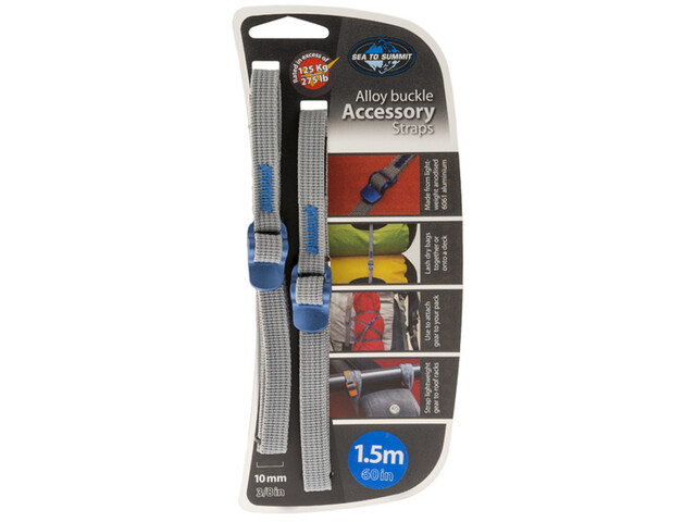 Sea to Summit Alloy Buckle Accessory Straps 10mm/1,5m, blue